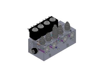지게차 체계를 위한 알루미늄 유압 벨브 다기관 구획